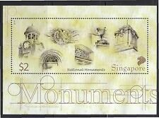 Singapore 2010 National Monuments Miniature Sheet Of 1 Stamp In Mint Mnh Unused