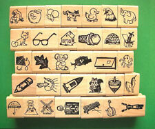 Alphabet/Phonics Teacher's Set, 32 Icon Rubber Stamps