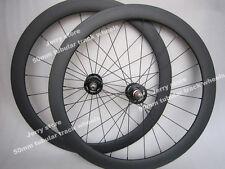 50mm Tubular fixed gear (track) carbon wheels 700C flip flop hub,black or red