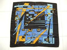 """Valenti'S Scarf Geometric Abstract Colorful Large 30"""" Square Vintage 1980's"""