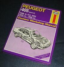 1988-92 PEUGEOT 405 1.6/1.9 PETROL HAYNES WORKSHOP MANUAL  1559