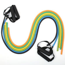Fitness Exercise Resistance Bands Set Yoga Workout Pilates Stretch Tube 6 Color