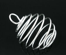 Fashion 100 Silver Plated Spiral Bead Cages Pendants 29x24mm