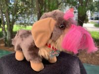 "Vintage Playmates Love N Blush Puppy Dog Lovey 10"" Soft Plush Stuffed Animal Toy"