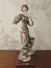 "G. Armani Figure Figurine Statue Sculpture ""Lady with Umbrella"" Italy, Rare"
