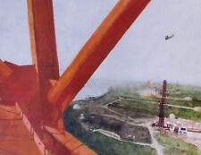 Vintage Art James Wyeth Jimmy Carter 1976 Support NASA Late 1960s Red Beam Tower