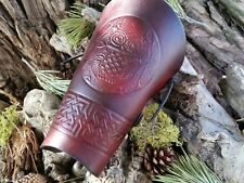 "ARCHERY ARM GUARD/BRACER ""VIKING NORDIC OWL "" TRADITIONAL ELEGANCE/ NEW DESIGN"
