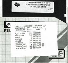 VTG 1985 HOME COMPUTER MAGAZINE VOL 2 NO 6 PROGRAMS ON DISK TI-99/4A   #277