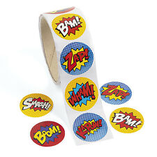 300 SUPERHERO super hero STICKERS BIRTHDAY PARTY FAVOR BOX LOOT BAG filler