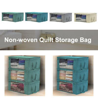 1 Non-woven Space Saver Clothes Quilt Blanket Storage Bag Box Organizer Portable