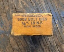 "New Ridgid 48720 5/8""-18 Unc Hs Universal Bolt Rh 500B Thread Die"