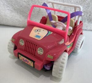 Vintage Kelly's Sister Of Barbie Power Wheels Jeep Car Fisher Price Mattel 1997