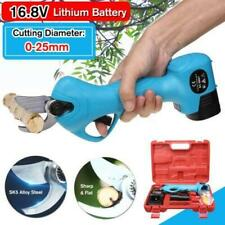 16.8V Electric Cordless Pruning Shears Secateur Branch Cutter 2 Li-ion Battery