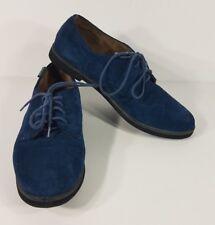 Eastland Bucksport blue suede shoes lace up casual Elvis leather ladies 10 M