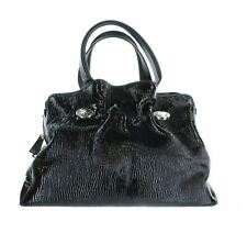"BVLGARI Black Leather Handle Bag, 9"" X 4"" X 15"""