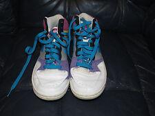 Women's Nike Court Force High #316117-041 Gray/Blue/Pink/Purple Yellow Size 8.5