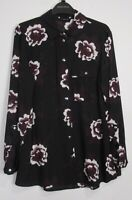 New Dorothy Perkins Floral Print Blouse - Size 8 - 20 - Black - Occasion - Work