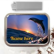 Dolphin Ocean Wave 2oz Tobacco Tin Baccy Storage Pouch Personalised Gift ST078