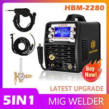 5 In 1 Mig Welder 110v 220v Inverter Igbt Aluminum Mig Tig Welding Machine 200a