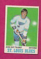 1970-71 OPC  # 100 BLUES JG TALBOT EX-MT CARD (INV#4779)