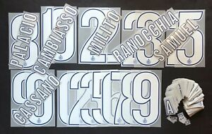 INTER KIT-LETTERE-NUMERI UFFICIALI 2012-2013 HOME/3rd OFFICIAL NUMBERS/LETTERS