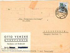 Echte ungeprüfte Briefmarken aus Berlin (1949-1990) mit Einzelfrankatur