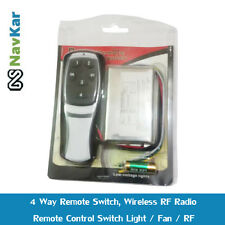 4 Way Remote Switch, Wireless RF Radio Remote Control Switch Light / Fan / RF