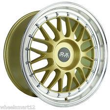 """OX306A 18x8.5"""" 5x110 25P GOLD Machine Lip Mag Wheel Rim for some Alfa, Saab"""