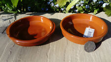 Set of 4 Terracotta Tapas Bowls Dish Dishes / Ramekins - Various sizes