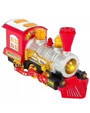 Kids Bubble Blowing Train Car Bump & Go Battery Operated, Music, Lights, Bubble