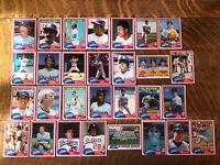 1981 LOS ANGELES DODGERS Topps Complete MLB Team Set 29 Cards VALENZUELA GARVEY!