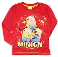 Minions Minion _ Man Camiseta Rojo Manga Larga Original Despreciable Me