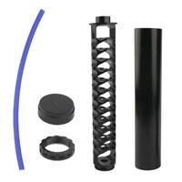 Filtro carburante in alluminio 10 '' per NAPA 4003 5/8 '' - 24 nero, pezzi di