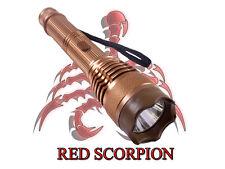Red Scorpion Metal Stun Gun 359 - 17 Billion Volts + Controllable LED Flashlight