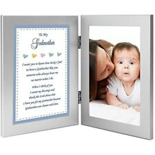 Godson To Godmother Baptism Or Birthday Gift, Add Photo Baby