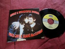 "NICK CAVE & SHANE MacGOWAN Wonderful world 7"" USA NEW WAVE Sub Pop EX"
