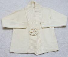Rafella Beige Sweater Women's Long Sleeve Top Solid Large 42/44 10-12 Acrylic