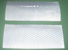 2 HI VIZ DIAMOND GRADE WHITE REFLECTOR STICKERS 120 x 50mm~CAR~MOTORBIKE~CARAVAN
