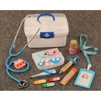 16Pcs Children Pretend Play Doctor Toys Wooden Medical Kits Interest Development
