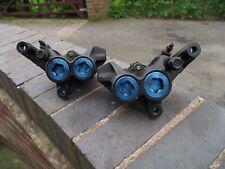 YAMAHA FZ6 FAZER S2 2007-2010 ORIGINAL PAIR BLUE SPOT 4POT FRONT BRAKE CALIPERS