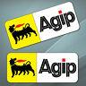 2 PVC Aufkleber Eni Agip Öl Logo Sponsor Auto Moto Motorrad Helm Vinyl Stickers