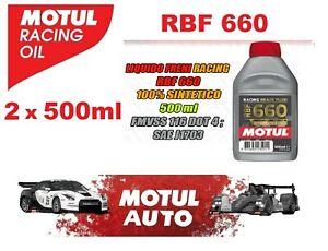 Olio Freni Motul RBF 660 DOT 4 FL Racing Auto e Moto 100% Sintetico 2 X 500ml
