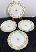 "Antique Hand Painted Nippon ""Gold Gilt"" Dessert/Salad Plates 7 1/2"" (set of 4)"