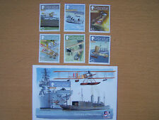 GIBRALTAR,2009,NAVAL AVIATION,COMPLETE SET,6 VALS, AND 1 M/S,U/M,CAT £26.