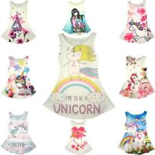 Unicorn Girl Sleeveless Dresses (2-16 Years) for Girls