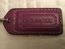 """Authentic Coach purse tag color purple size 1 3/4"""" by 3/4"""""""