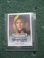 Pop Century 2011. Samantha Fox Autograph Card  by Leaf