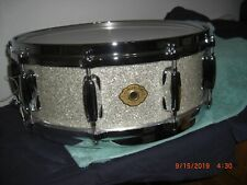 Slingerland Studio King Maple 10 Lug Snare in Silver glass NOS 14 x 5 XLNT COND!