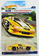Hot Wheels 2016 ford performance series ford mustang cobra yellow #6/8