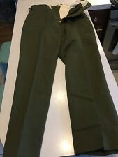 Vtg OG US Military Korean War Wool Green M-1951 Field Trousers Pants Med Regular